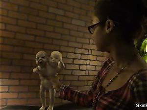 Behind the episodes with adult movie star skin Diamond