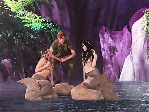 super-steamy mermaid three-way with Aiden Ashley and Mia Malkova