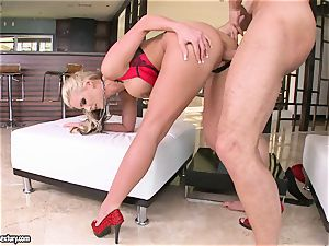huge-boobed Phoenix Marie loves getting her beaver drilled