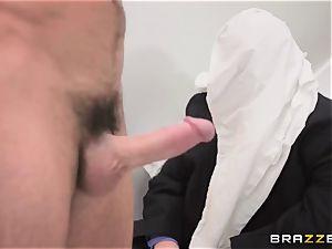 discreet husband witnesses his wifey Monique Alexander get ass-fucked