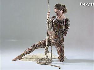 Anka the naturist flashing her talent