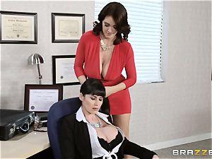 Charlee pursue and Eva Karera school office three way