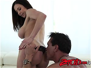 Kendra zeal attacks a ginormous backside trunk with all her slots