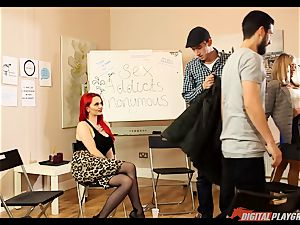fuck-fest junkies anonymous gets a bit super hot with Jasmine James and Danny D