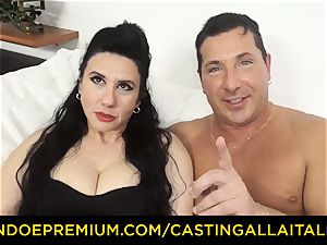audition ALLA ITALIANA black-haired nymphomaniac raunchy anal invasion hookup