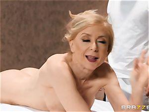 Mature Nina Hartley figure massage