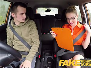 faux Driving school examination failure leads to super-fucking-hot hook-up