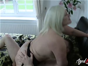 AgedLovE gonzo with super hot Mature Lacey Starr