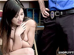 Stealing Latina nubile employee does everything to keep her job
