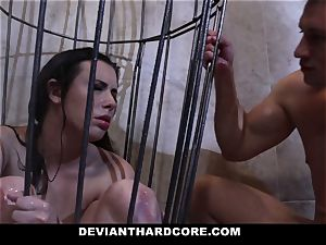 DeviantHardcore - Casey gets a mouth-watering fetish tear up