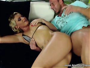 Finger plow Deep anal invasion blondie