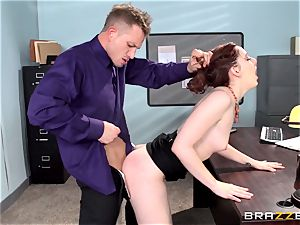 crimson super-steamy assistant Ember Stone punished by her boss