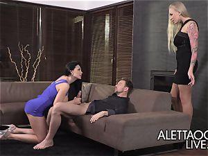 threesome with Aletta Ocean