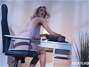 Adriana Chechik and Emma Hix jump on some ample pulsing schlong