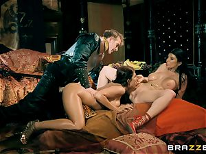 trio with Romi Rain and Ayda Swinger princess of thrones