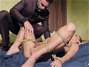 Jessa Rhodes plumbed by draped super-naughty dude Charles Dera