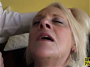 Bigtitted british gran gets raunchy domination