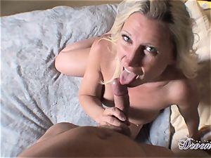Devon Lee is lovinТ her man's whip stuffed in her tasty jaws