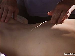 wondrous Mimi Rogers gets her whole figure massaged