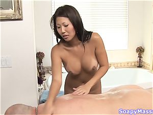 asian babe Beti Hana touching with her mouth