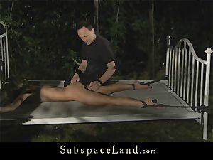 rectal penalty for a tied slavegirl