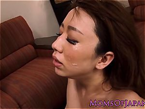 asian mommy spitroasted in threeway