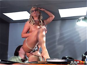 Phoenix Marie getting splooged with spunk by Danny D