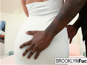 bootylicious beauty Brooklyn takes on a giant big black cock