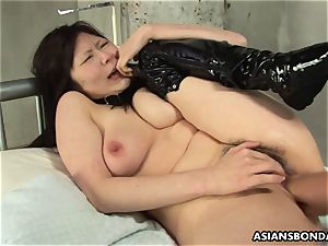 asian suffers harsh fingering and a nipple torture