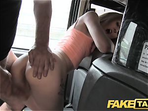 fake taxi slender light-haired likes it rough in back of taxi