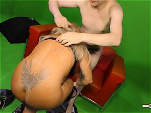Hausfrau Ficken - jizm on breasts for mature German novice
