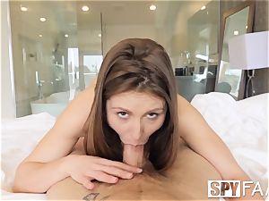 SPYFAM Step sis DEEP internal ejaculation by large manstick step step-brother