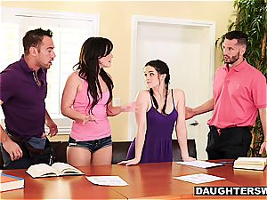 frisky daughters have something more titillating than tutoring in mind