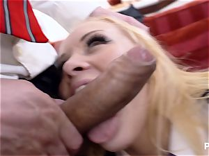 young Russian female ass-fucked by two professors