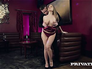 Private.com Alessandra Jane gets cum on her udders