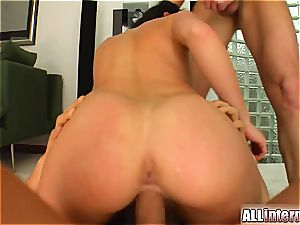 Aletta Ocean porked by two naughty dudes