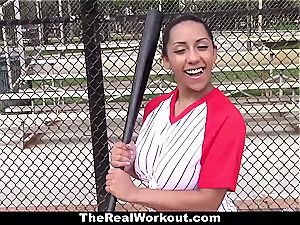huge-chested Latina likes to have fun with balls