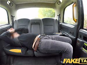 fake cab ultra-kinky redhead hotty in sloppy pummel