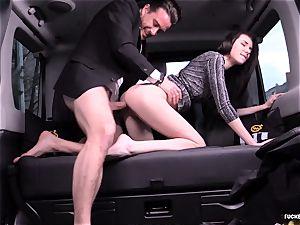 romped IN TRAFFIC - Russian honey pummels stiff in the car