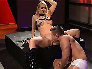 Every stud listens to Anita Blue when he's tied