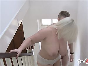 AgedLovE big-titted Lacey Starr hard-core and fellatio