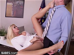 giant boobies Office milf Uses feet to punish worker