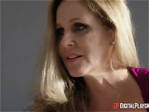 bang-out with huge-chested housewife Julia Ann and her stepdaughter