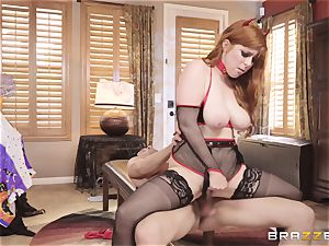 penetrating Penny Pax on Halloween