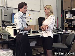 SheWillCheat - big-boobed cougar boss romps new worker