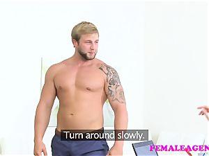 FemaleAgent Bodybuilder smashes beautiful blond agent