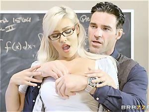 super-naughty schoolgirl Kylie Page boinks her professor
