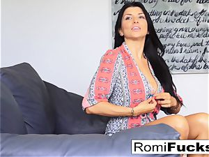 Romi drapes out at James Deen's palace then bangs him
