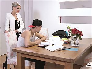 naughty INLAWS - slender Czech blond molten plow with stepson
