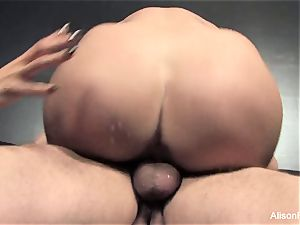 2 huge-titted Brunettes Take on ginormous cock Together